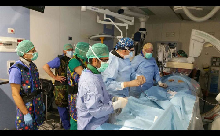 Intervento salvavita su paziente abruzzese con rottura aorta