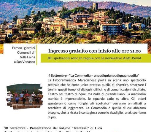 """A settembre altri due appuntamenti con """"Serate d'Estate a San Venanzo"""""""