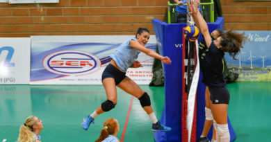 Volley B1f, in amichevole la Lucky Wind Trevi batte la Pieralisi Jesi 4-1