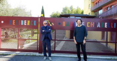 """Perugia, Neri Marcorè in visita al Residence """"Daniele Chianelli"""""""
