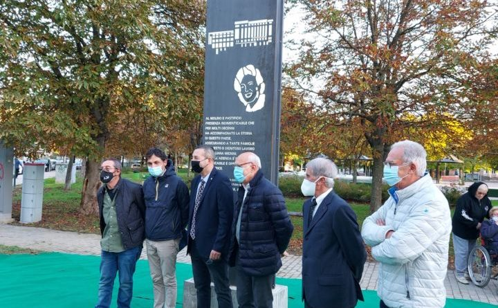 Perugia, inaugurata stele dedicata al molino del pastificio Ponte