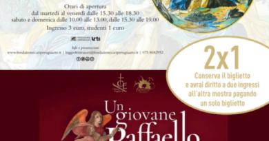Alle Logge di Gubbio Raffaello si fa in due: convenzione 2x1