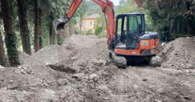Spoleto, stadio comunale: proseguono i lavori di stabilizzazione dell'area in frana