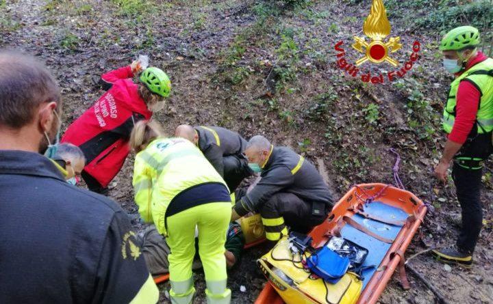 Spoleto, soccorso cacciatore infortunato dopo una caduta