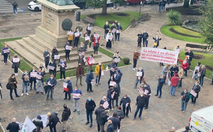 Manifestazione ospedale spoleto