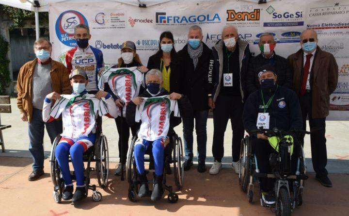 Assegnati a Petrignano d'Assisi i titoli regionali handbike