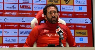 Perugia Calcio, le parole del tecnico biancorosso Fabio Caserta