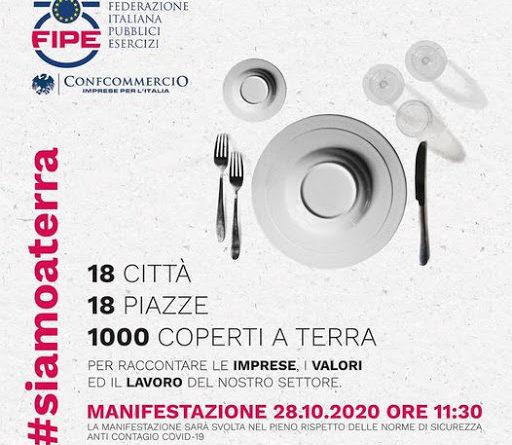 Bar e ristoranti di Fipe Confcommercio scendono in piazza anche in Umbria