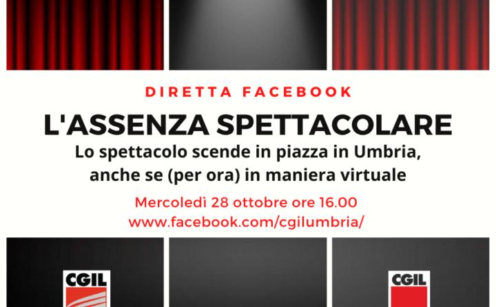 Lo spettacolo scende in piazza (per ora virtualmente) anche in Umbria