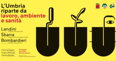 Al lavoro per l'Umbria: martedì 13 ottobre laboratorio di Cgil, Cisl e Uil con Landini, Sbarra e Bombardieri