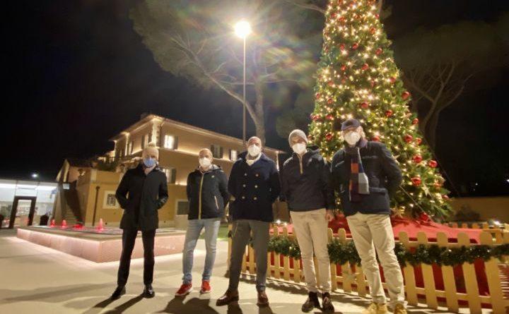 Perugia, il Natale si accende al Barton Park in segno di speranza