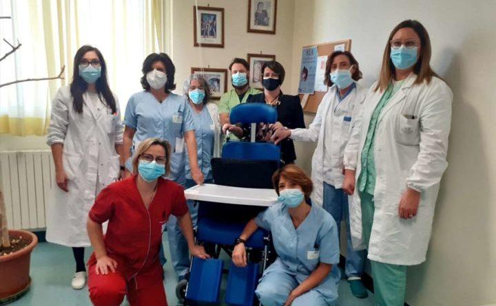 Donata poltrona multifunzionale pazienti Sla ospedale di Perugia