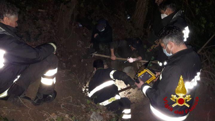 Perugia, vigili del fuoco salvano cane in zona Ipogeo dei Volumni