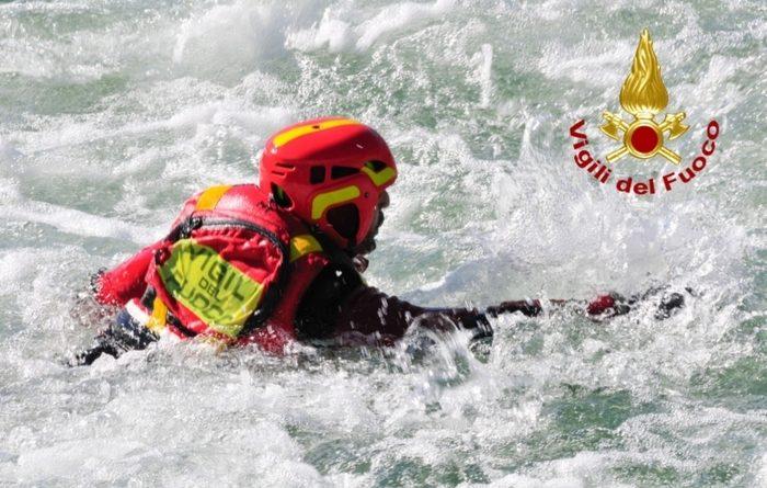 Papigno, formati 15 soccorritori fluviali dei vigili del fuoco