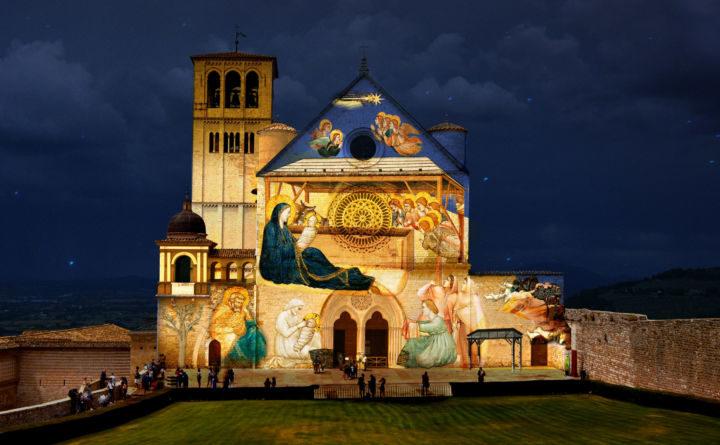 Ad Assisi città presepe rivivono gli affreschi di Giotto