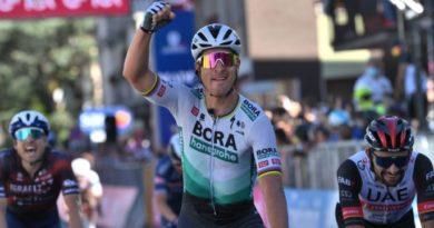 Giro d'Italia, Sagan: Grazie alla mia squadra che va sempre al 100%. Bernal sempre in Rosa